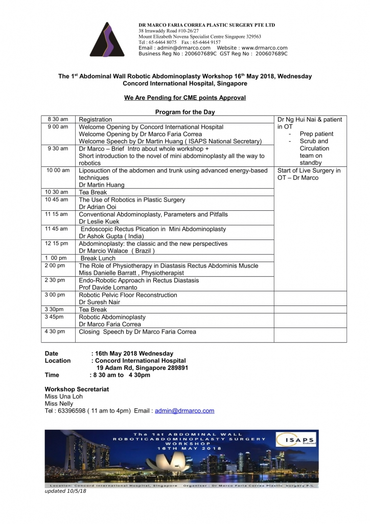 Program for the Day _1st Robotic Workshop-1